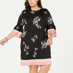 Alfani Plus Size Printed Scuba Dress